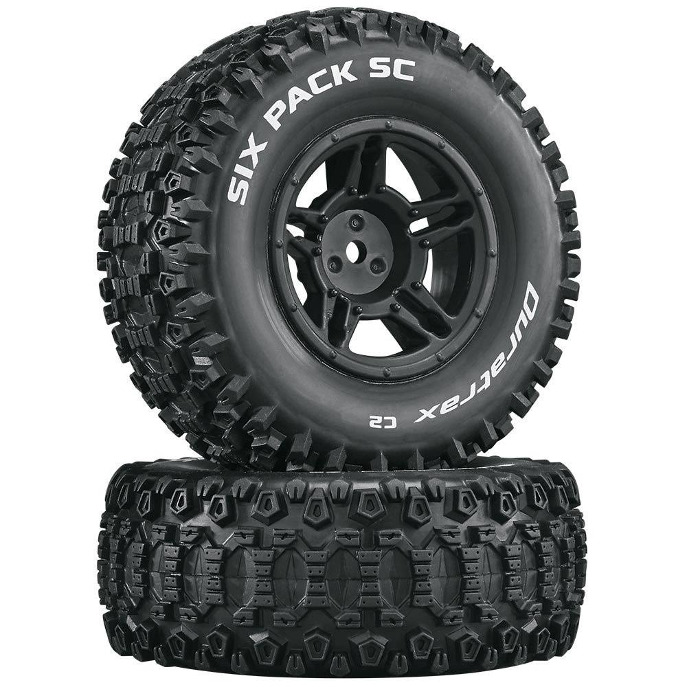 Duratrax Six Pack SC C2 Mounted Slash 4x4 Blitz Tire - 2pcs, Front/Rear