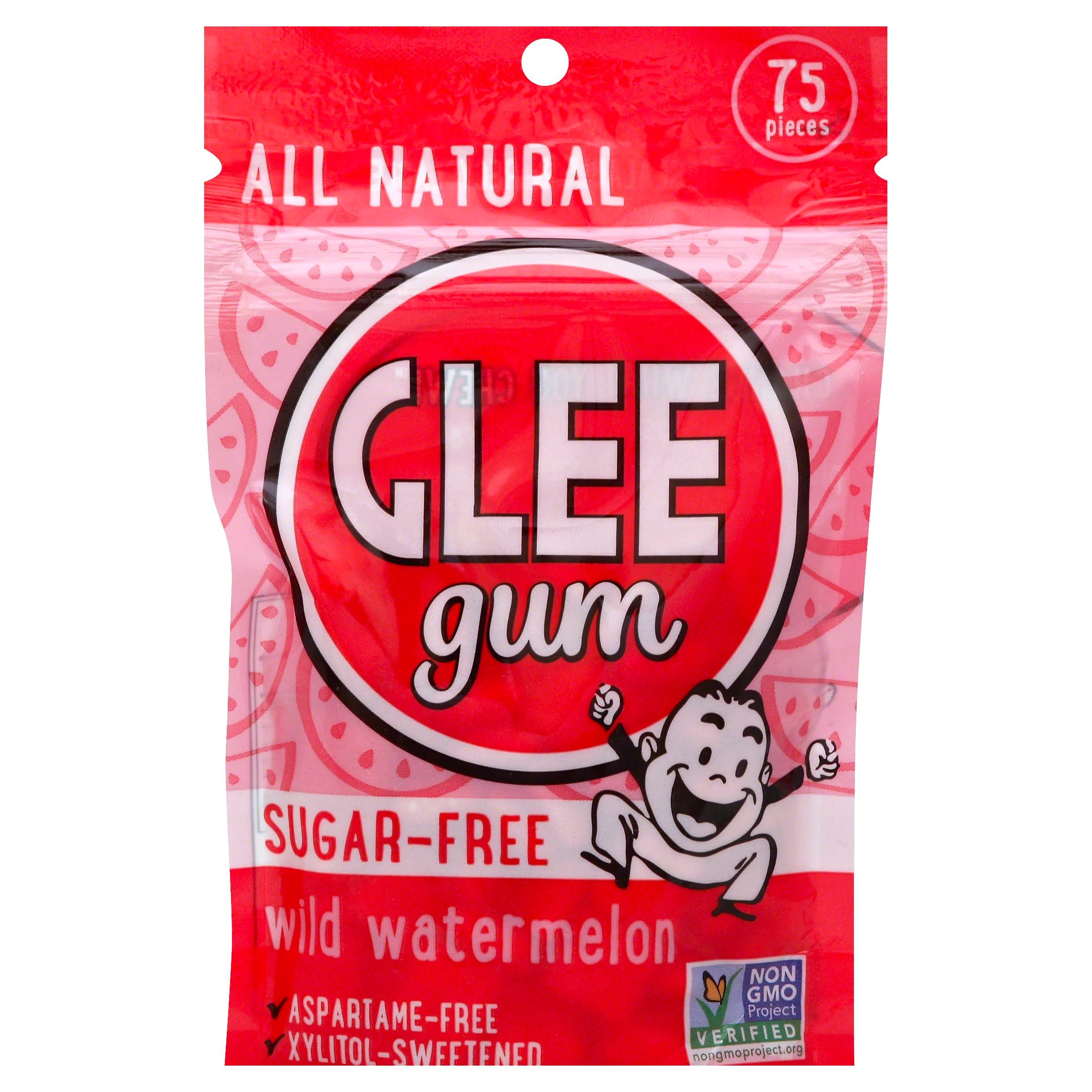 Glee Gum Natural Xylitol-Sweetened - Wild Watermelon