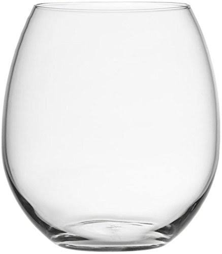 Circleware Downtown Stemless Wine Glass - Clear, Set of 4, 12oz