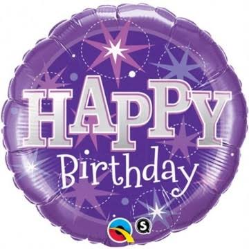 Qualatex Round Foil Balloon - Purple, 18""