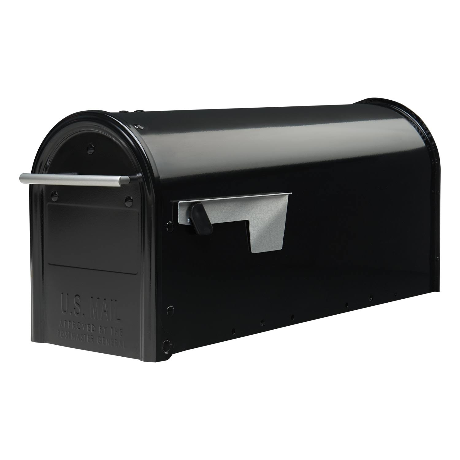 "Franklin Post Mount Mailbox - Black, 6.9"" x 8.9"""