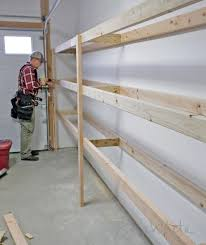 ana white easy and fast diy garage or basement shelving for tote