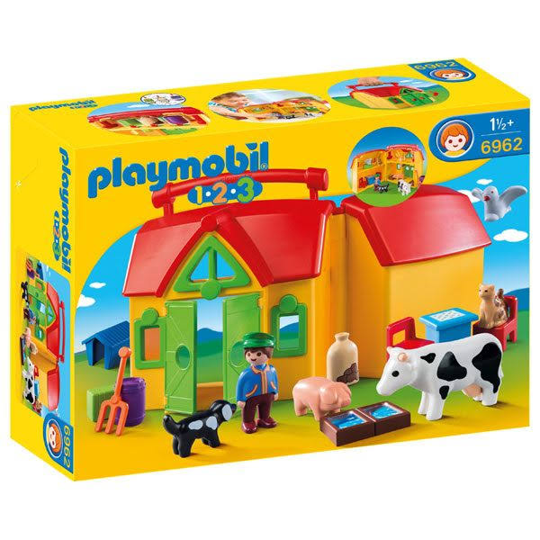 Playmobil 1.2.3 My Take Along Farm Toy Set