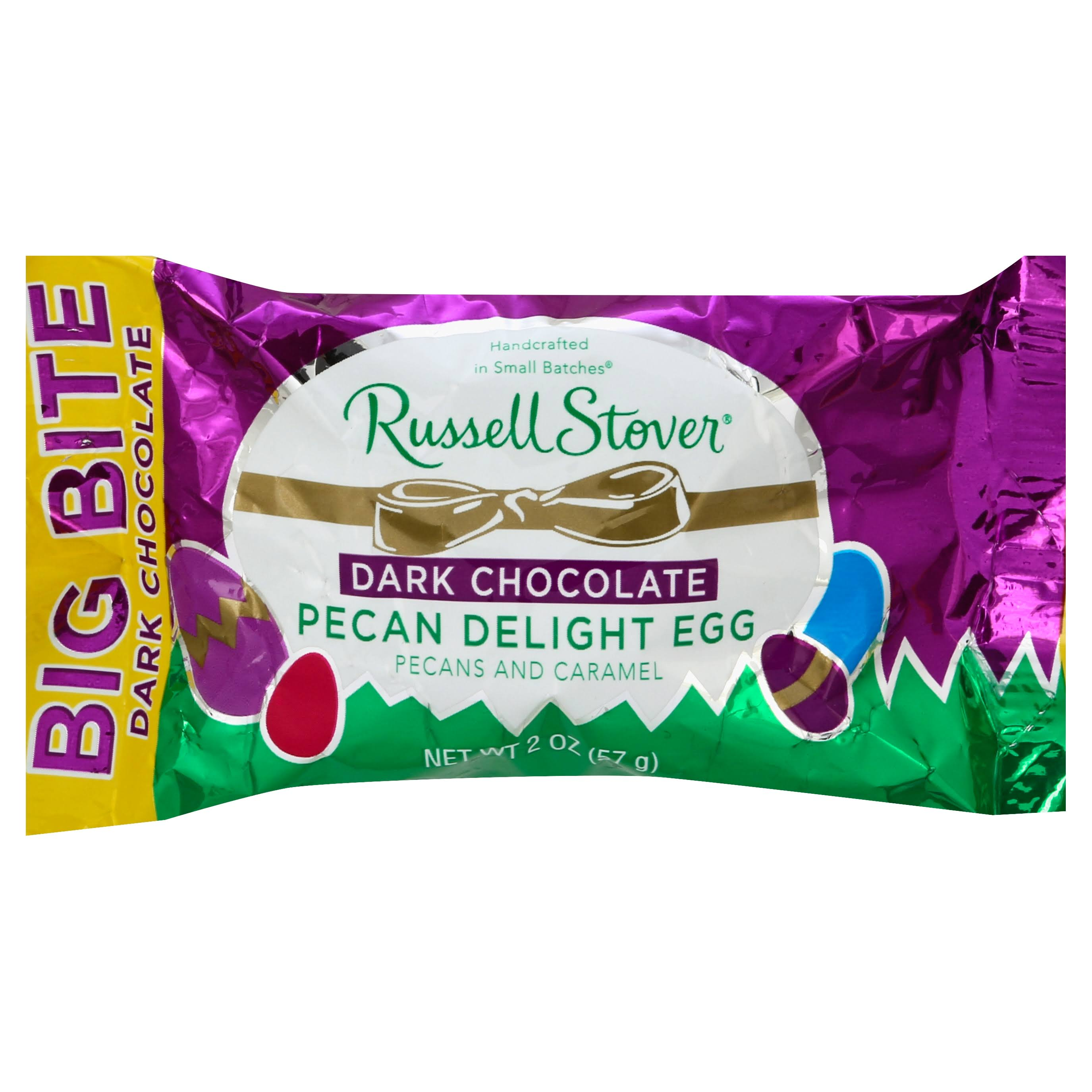 Russell Stover Big Bite Milk Chocolate Pecan Delight Egg - 2oz