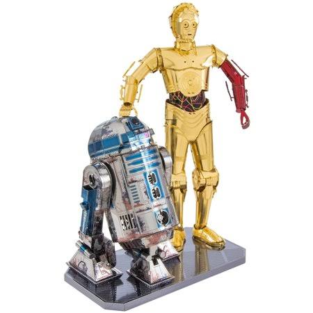 Fascinations Star Wars Metal Earth C-3po And R2D2 Deluxe Model Kit Set