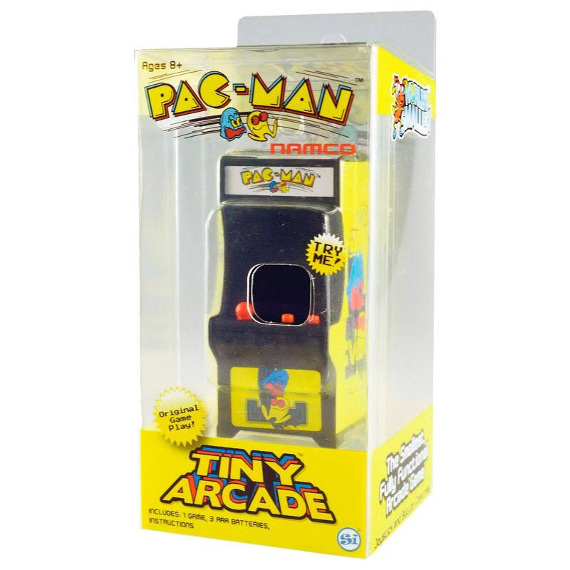"Tiny Arcade Pac-Man Miniature Arcade Game - 4"" x 2"" x 2"""