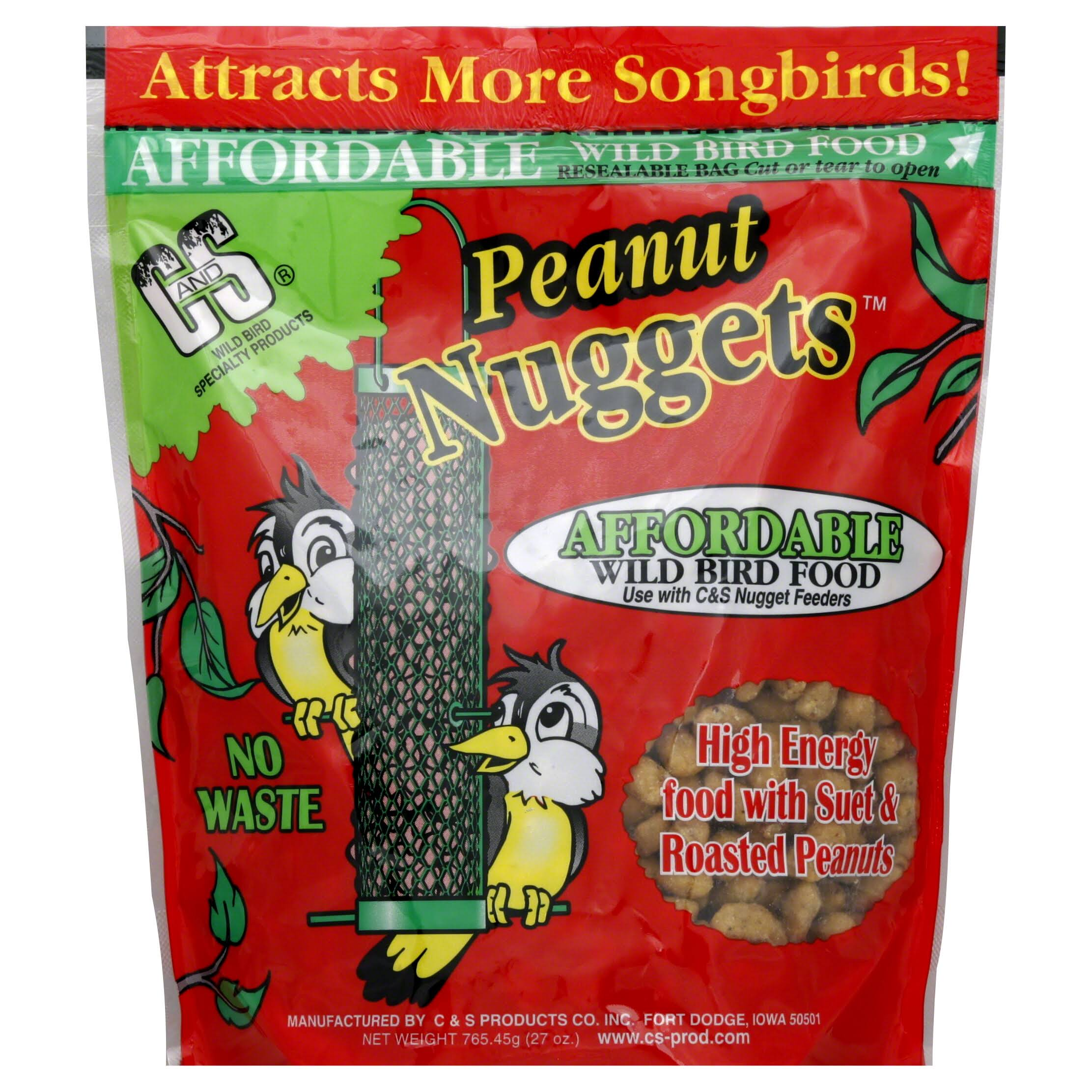 C & S Products Suet Nuggets Wild Bird Food - Peanut, 1.7lbs