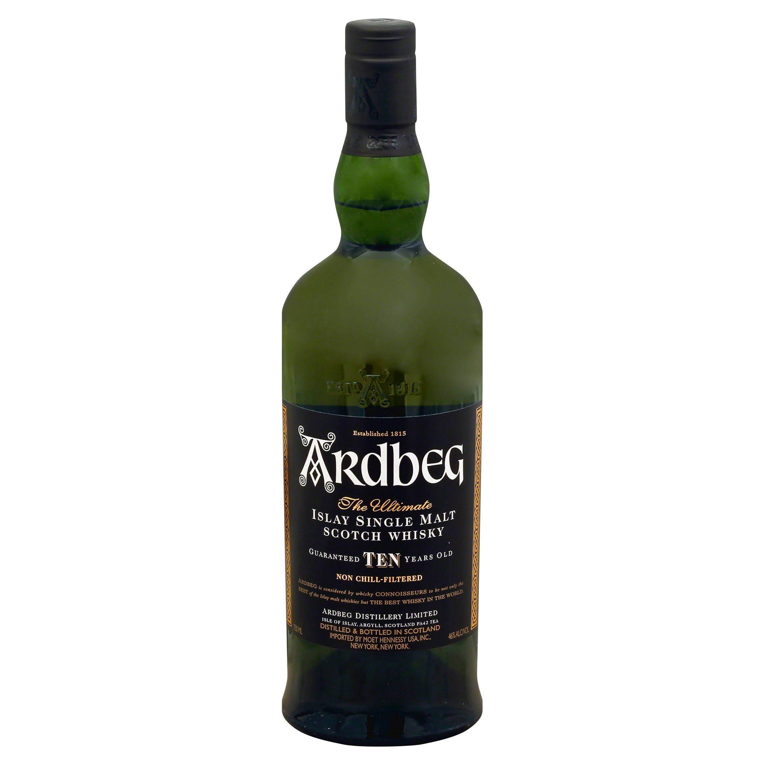 Ardbeg Scotch 10 Year Old Single Malt - United States