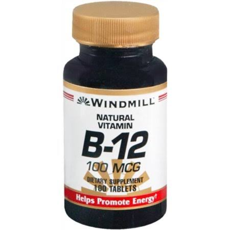 Windmill Natural Vitamin B-12 - 100mcg, 100 Tablets