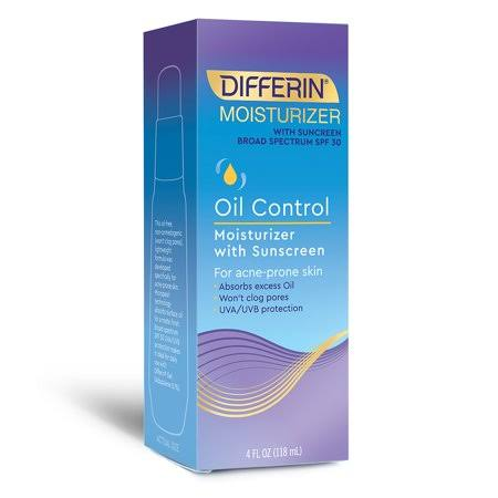 Differin Oil Control Moisturizer - With Sunscreen, Spf30, 4oz