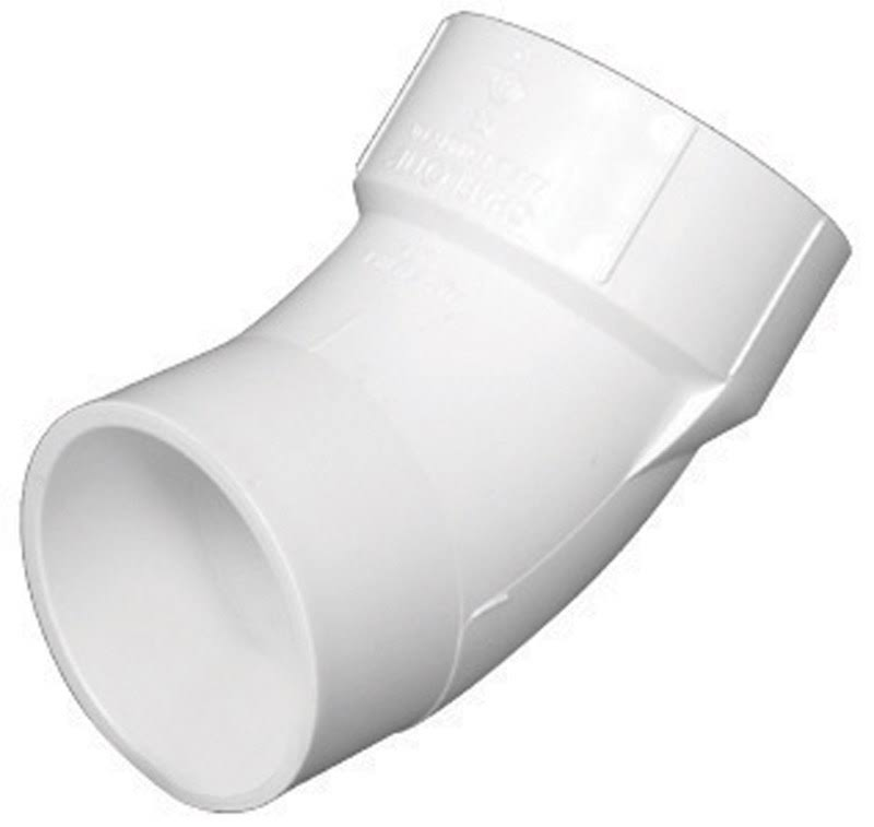 "Charlotte Pipe Street Elbow - PVC, DWV 4"", 45 Degree, Schedule 40"