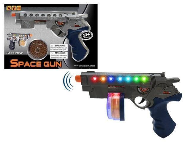 "DD Toy Gun Battery Operated Revolver with Light & Sound 9"" Case Pack 60"