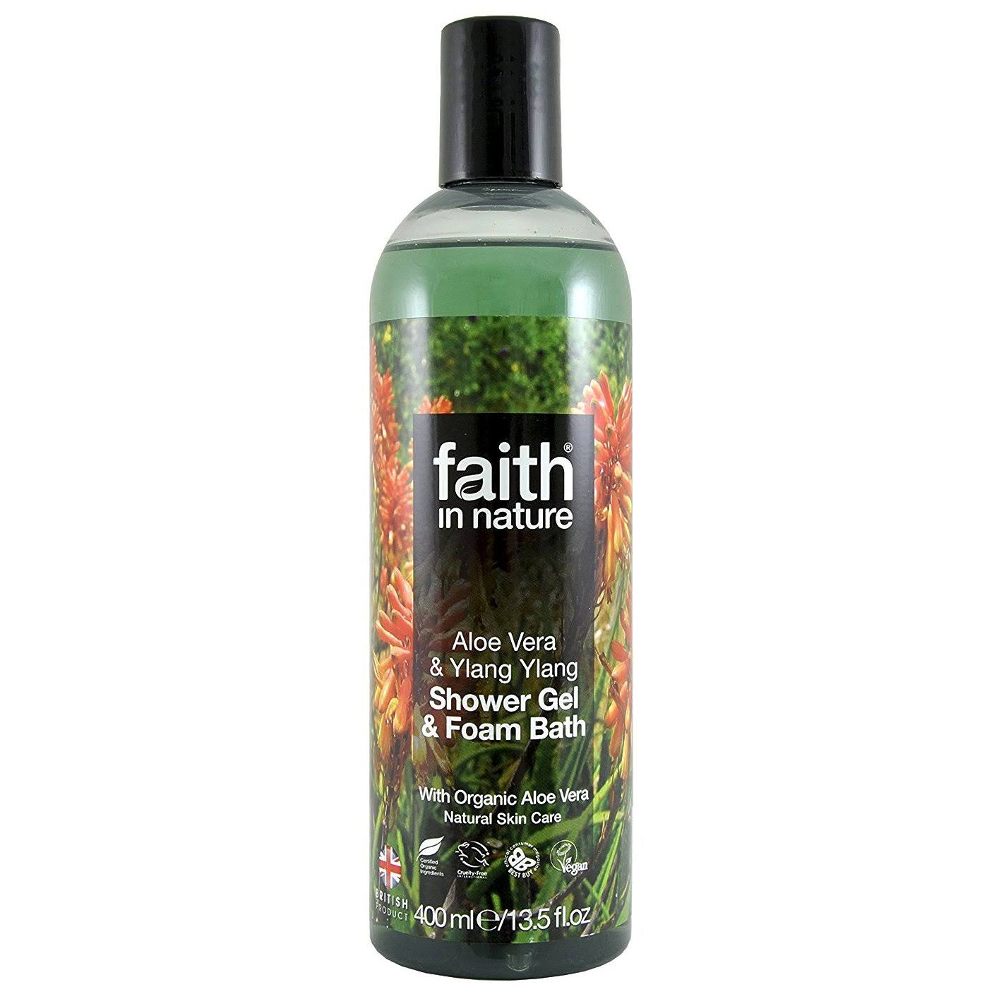 Faith in Nature Aloe Vera Foam Bath & Shower Gel 400ml