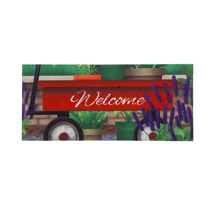 Evergreen Red Wagon Welcome Sassafras Switch Mat
