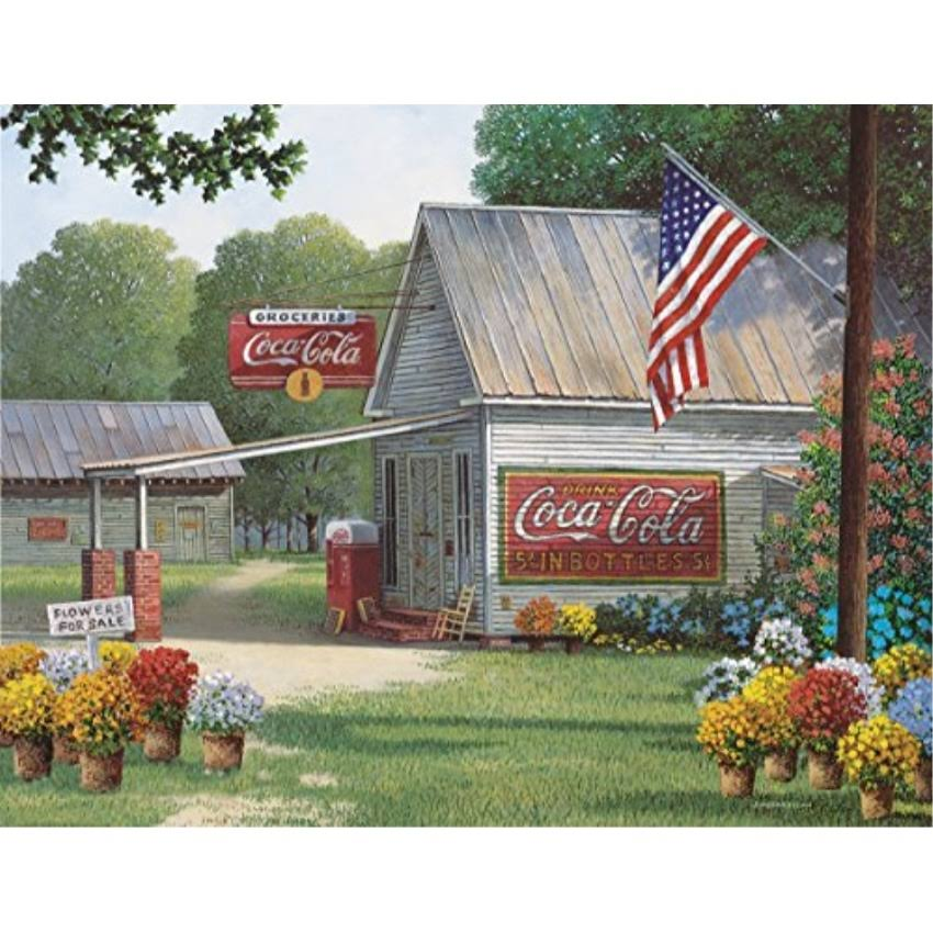 Springbok Puzzles Coca Cola Jigsaw Puzzle - Country General Store, 500pcs