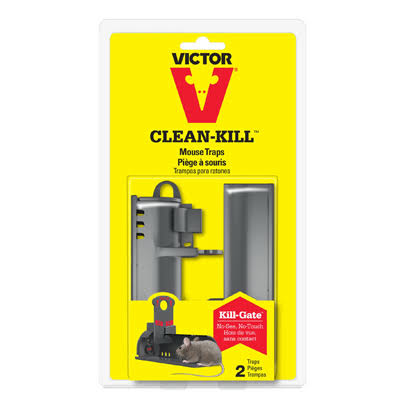 Victor Clean Kill Mouse Traps - 2 Pack
