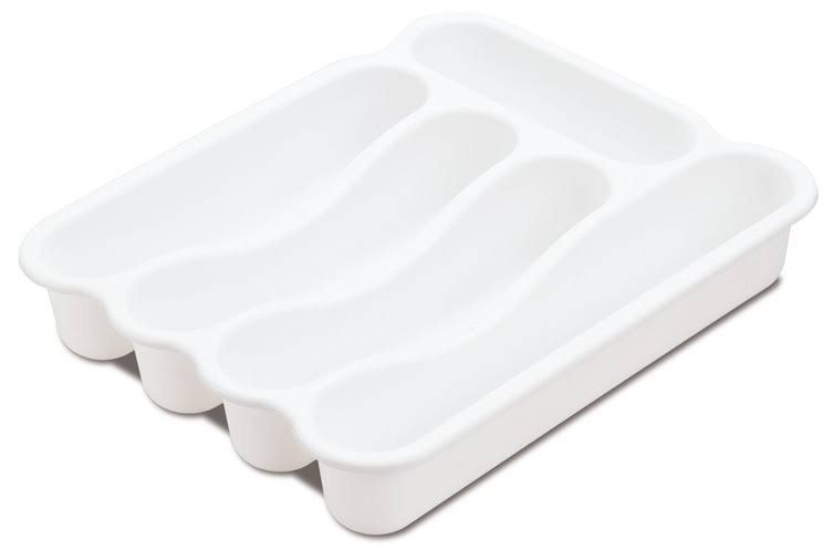 Sterilite 5 Compartment Cutlery Tray - White