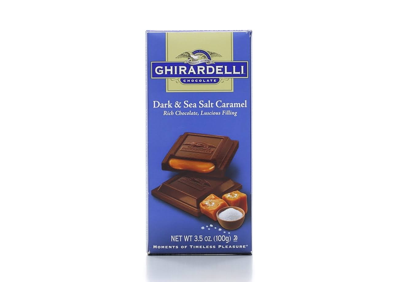 Ghirardelli Dark Chocolate - Sea Salt Caramel, 100g