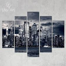 Gypsy Home Decor Nz by Unstretched Modern Home Decor New York City Painting Black White