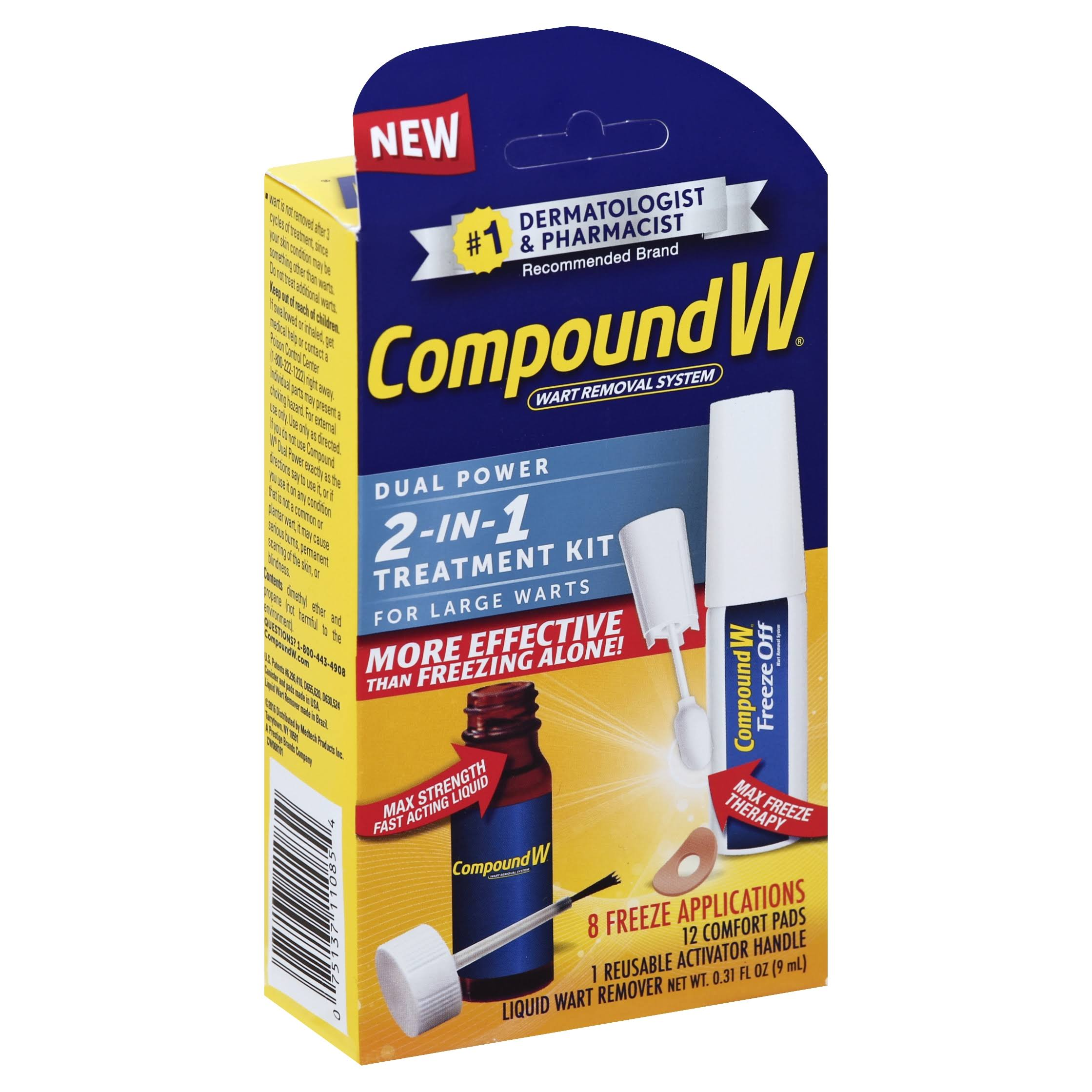 Compound W 2 in 1 Wart Treatment Kit - 0.31oz