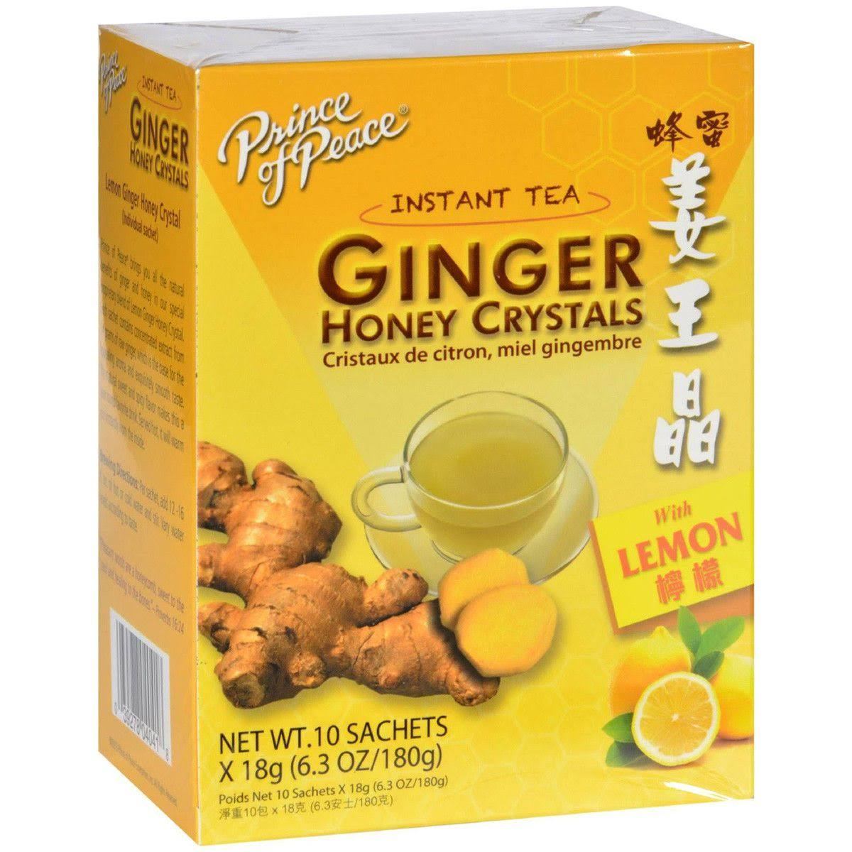 Prince Of Peace Ginger Honey Crystals with Lemon Instant Tea - 10 sachets