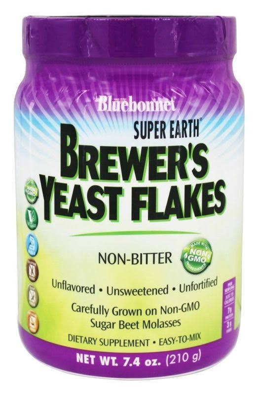 Bluebonnet Nutrition Brewer's Yeast Flakes Unflavored Supplement Powder Mix - 7.4oz
