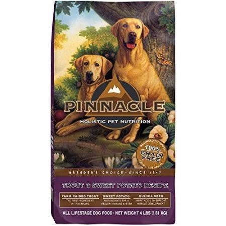 Pinnacle Grain Free Dog Food - Trout and Sweet Potato Formula, 4lbs