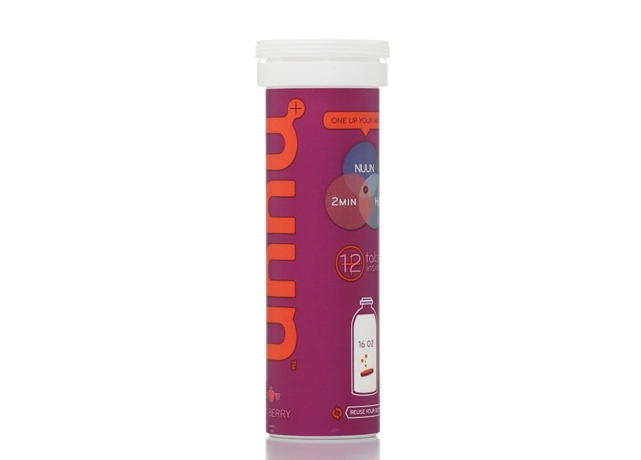nuun Electrolyte Enhanced Effervescent Drink Tabs - Tri-Berry, x12