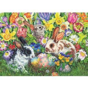 Cobble Hill Easter Bunnies Jigsaw Puzzle