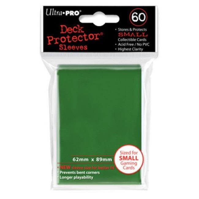 Ultra Pro Small Deck Protectors - Green, 60 Packs