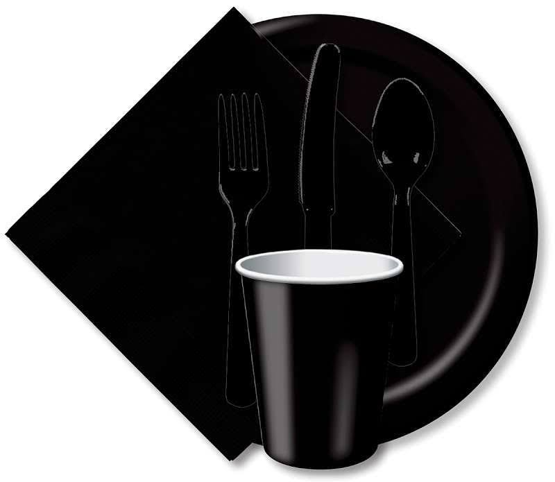 Creative Converting Paper Dinner Plate - Black Velvet, 24 Pack