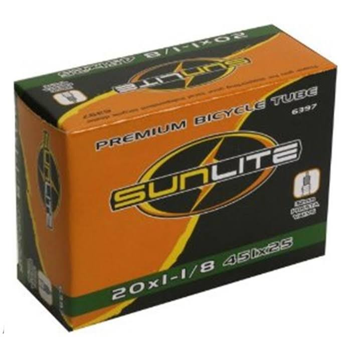 "Sunlite Premium Bicycle Tube - Black, 20"" x 1-1/8"""