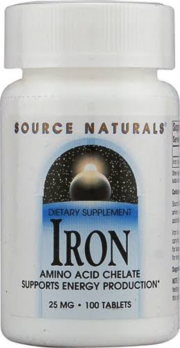Source Naturals Iron Supplement - 25mg, 100 Tablets