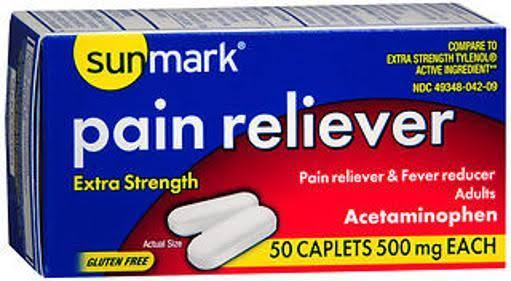 Sunmark Pain Reliever Pills - 50ct