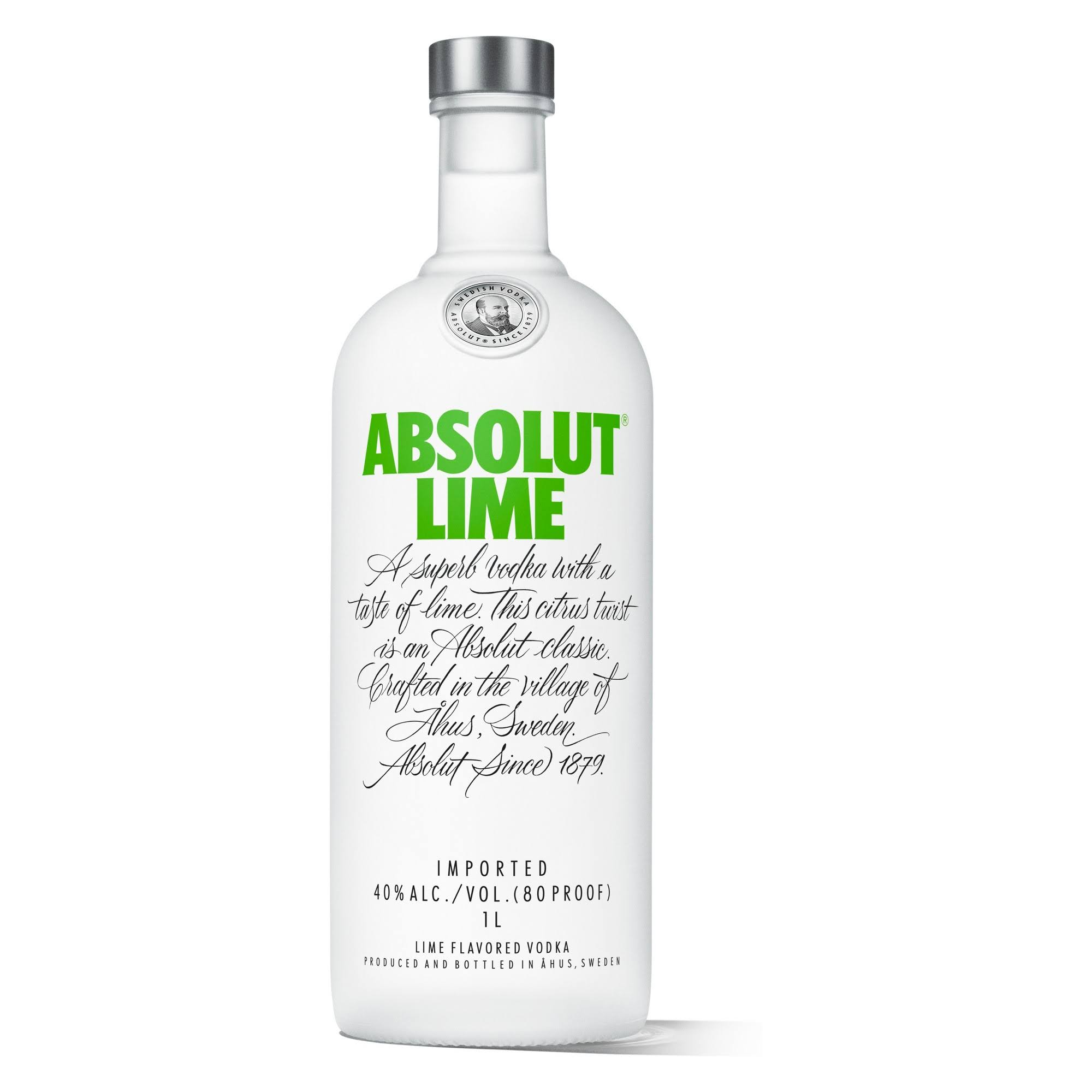 Absolut Vodka, Lime Flavored - 1 l