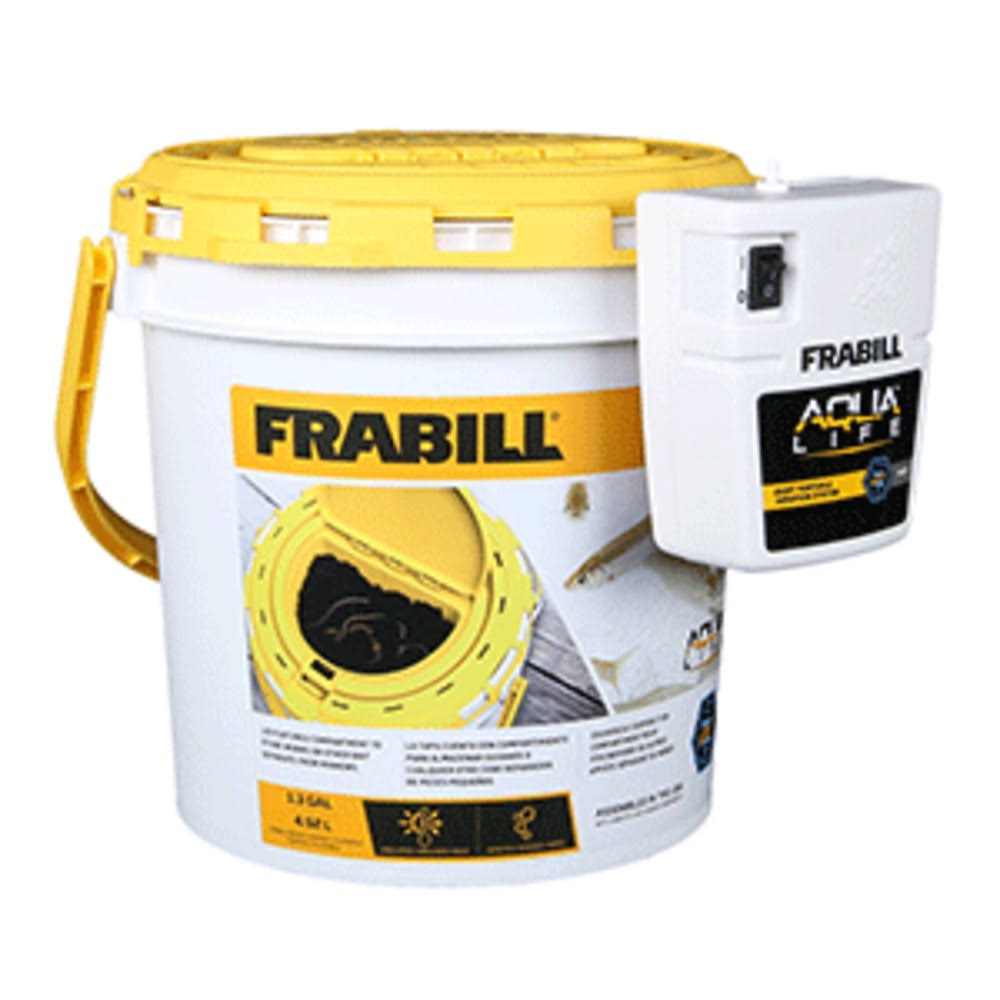 Frabill Insulated Dual Bait Bucket with Aerator