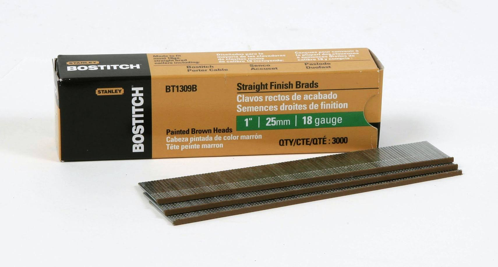Bostitch BT1309B Brads - 18 Gauge, 1""