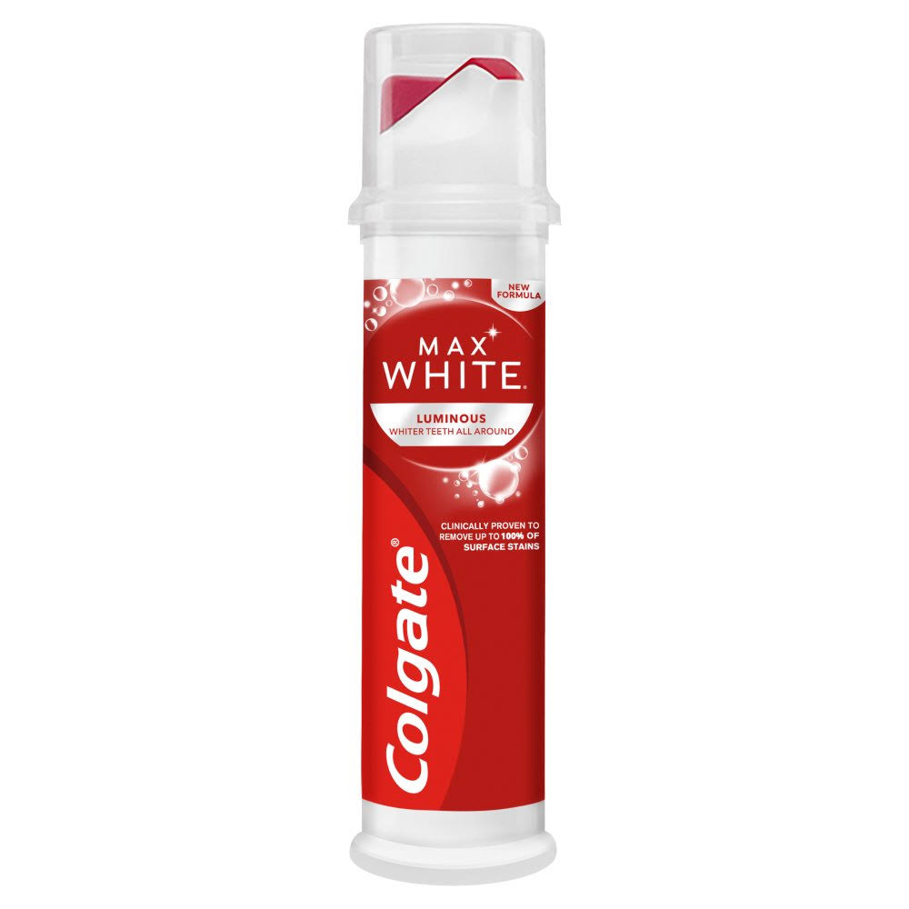 Colgate Max White Luminous Pump Toothpaste 100ml