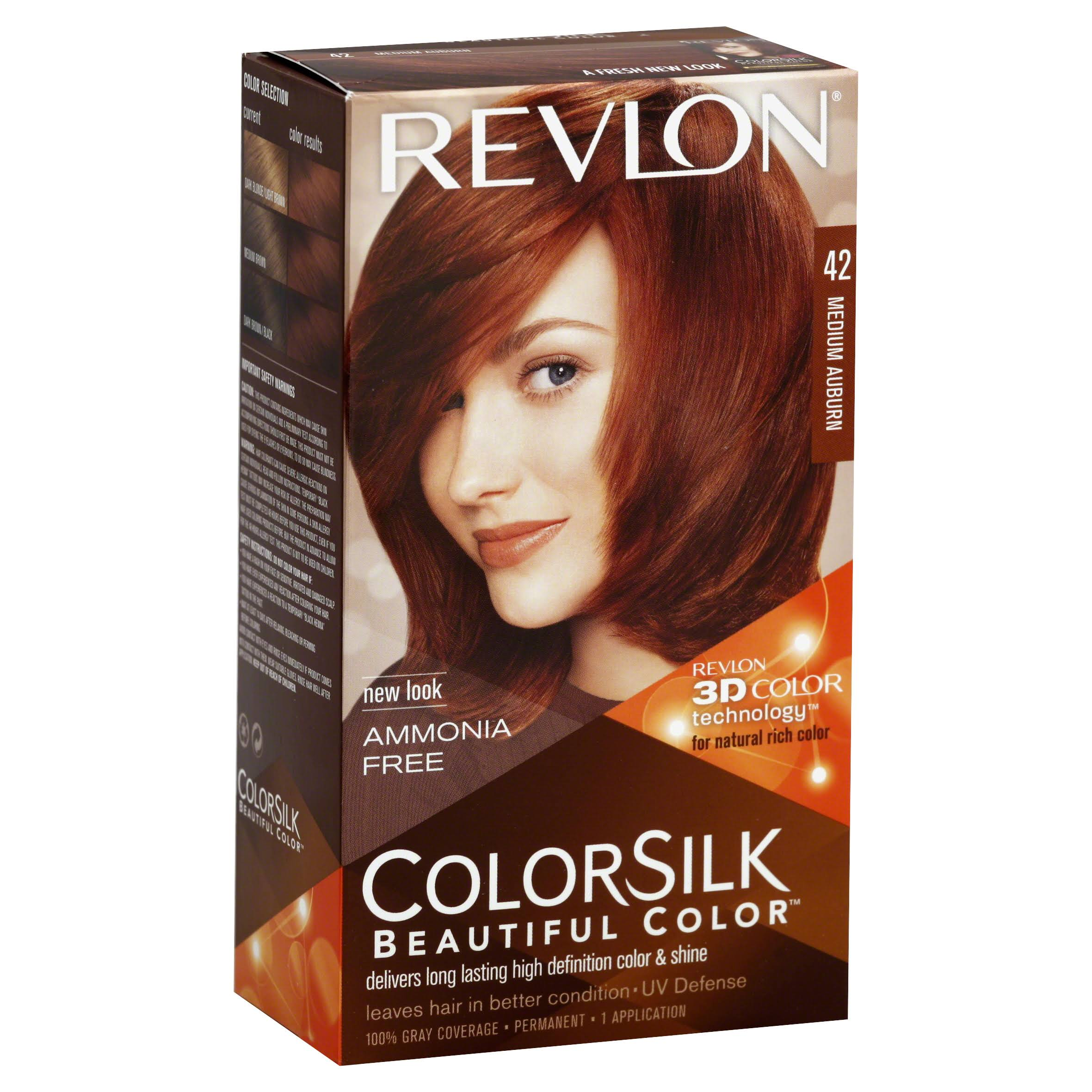 Revlon ColorSilk Beautiful Permanent Hair Color - Medium Auburn