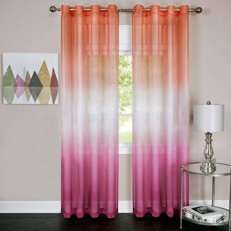 Achim Rainbow Single Grommet Curtain Panel, Pink