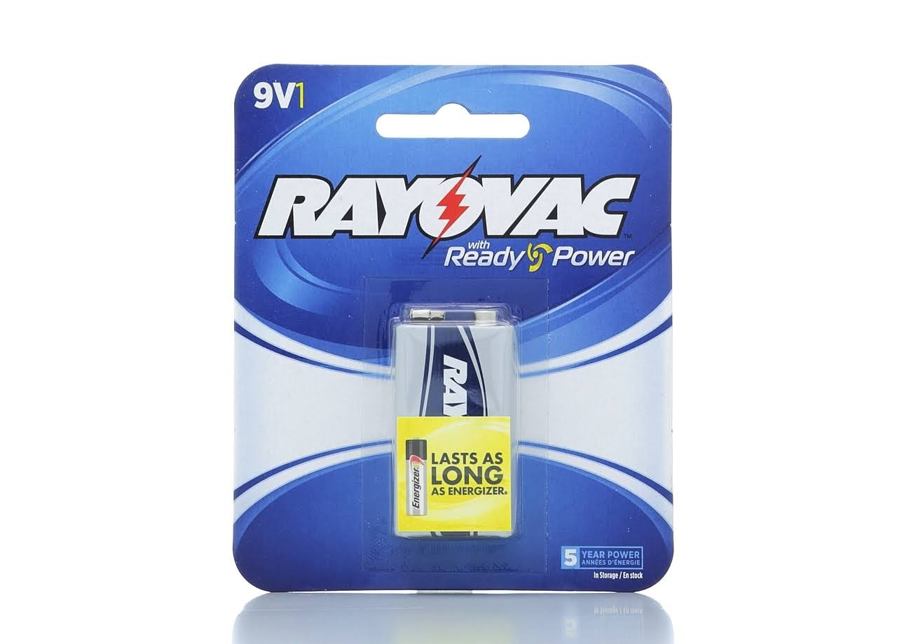 Rayovac Maximum Battery - 9V - Alkaline
