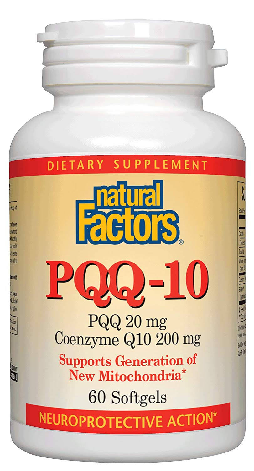 Natural Factors PQQ-10 60 Softgels