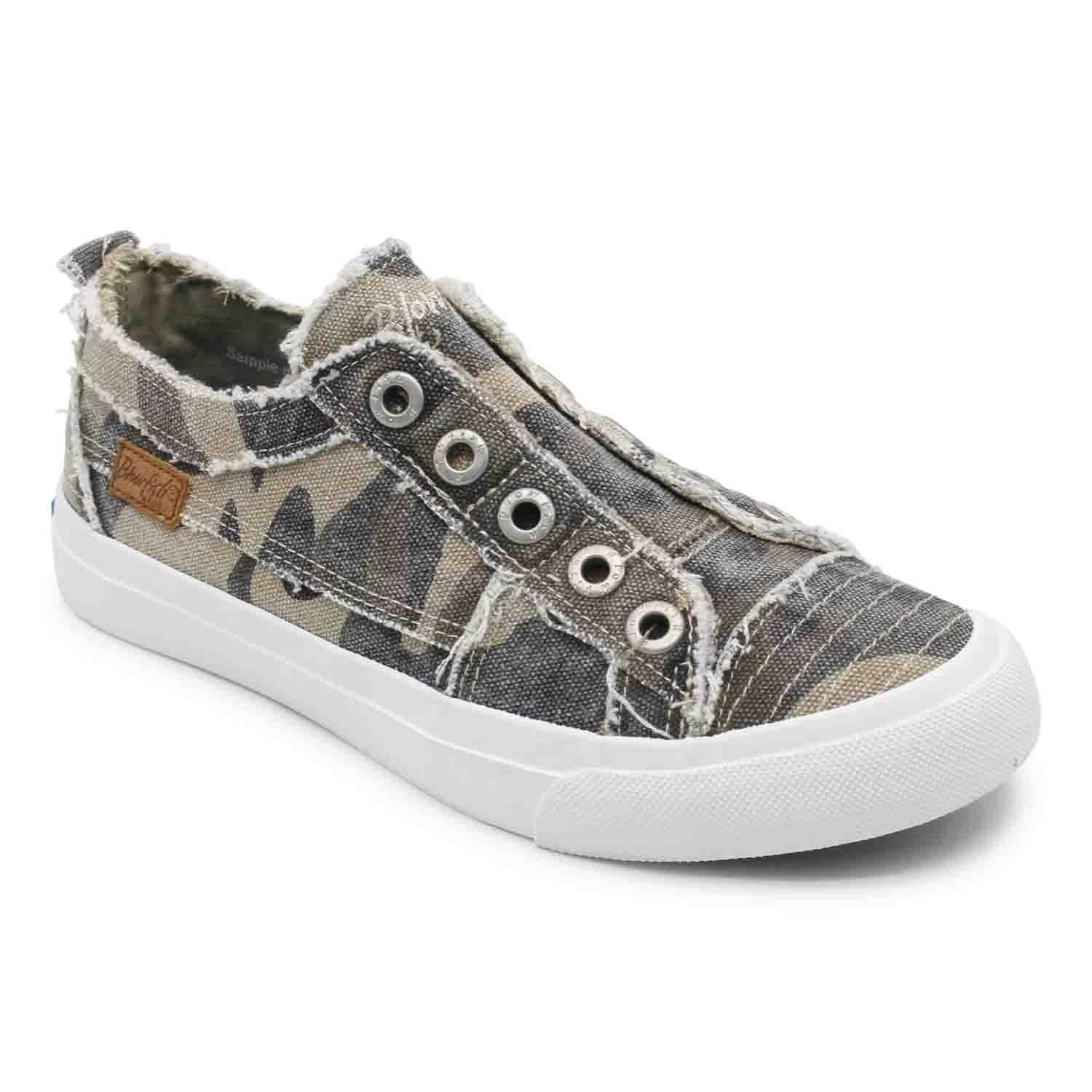Blowfish Women's Play Slip on Sneakers (Natural Camo) - Size 8.0 M - Style #96070