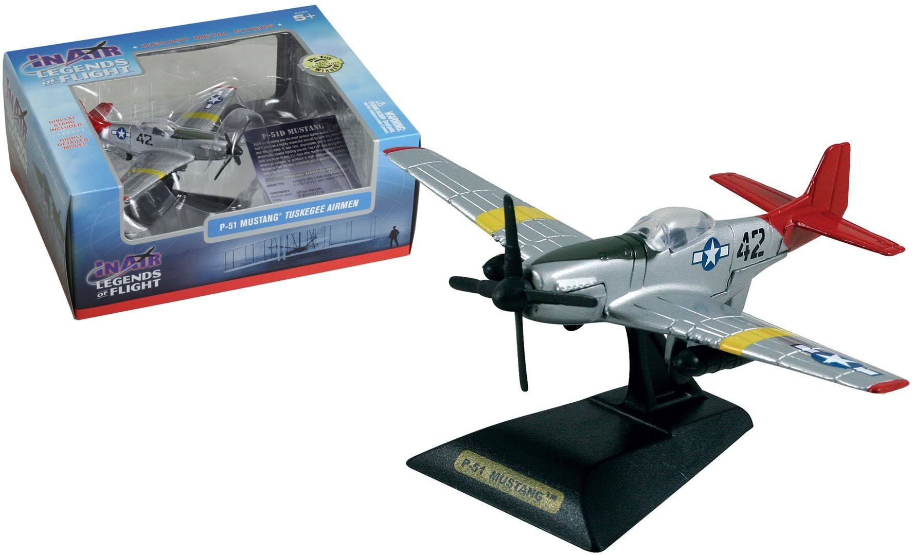 Wow Toyz in Air Legends of Flight P 51 Mustang Tuskegee Airmen Die Cast Vehicle
