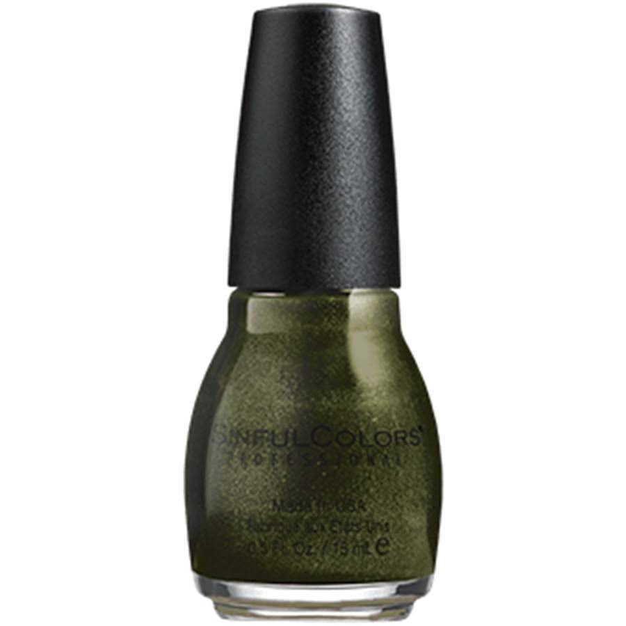 SinfulColors Professional Nail Polish - Electric Sage, 0.5oz