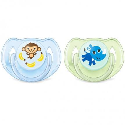 Philips Avent 2 Classic Orthodontic Soothers - 6-18Months