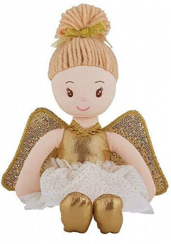 Stephan Baby Plush Angel Doll Gold