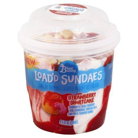 Blue Bunny Load'd Sundaes Ice Cream, Strawberry Shortcake - 8.5 fl oz