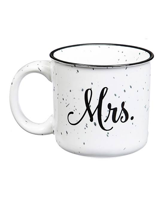 Mr. and Mrs. Ceramic Coffee Mugs - 14oz, Set of 2