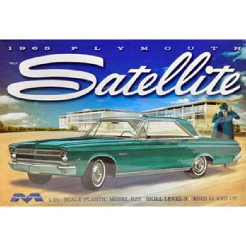 Moebius Models 1965 Plymouth Satellite Model Car Miniature - Scale 1:25